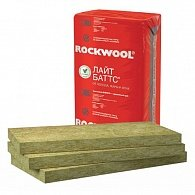 Теплоизоляционный материал Роквул Лайт Баттс, размер (1000*600*50мм), в упаковке 4.8м2 ;